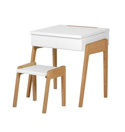 My Little Pupitre children desk + Stool 3/6 years - white