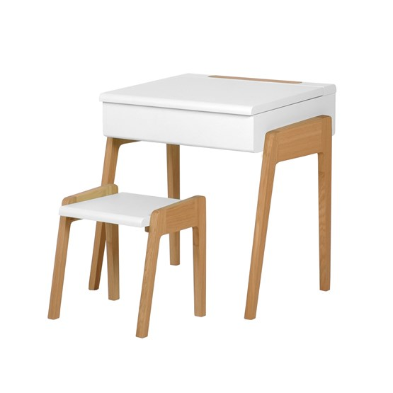My Little Pupitre children desk + Stool 3/6 years - white - Design : Jungle by Jungle