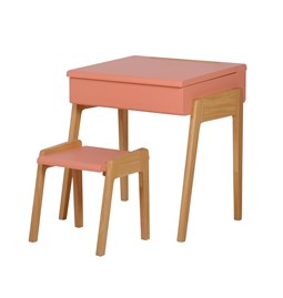Bureau + Tabouret enfant 3/6 ans My Little Pupitre - rose