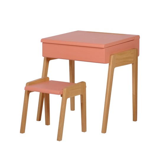 My Little Pupitre children desk + Stool 3/6 years - pink - Design : Jungle by Jungle
