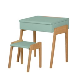 My Little Pupitre children desk + stool 3/6 years - celadon green