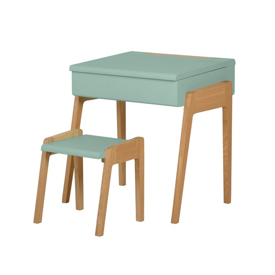 Bureau + Tabouret enfant 3/6 ans My Little Pupitre - vert céladon - Design : Jungle by Jungle