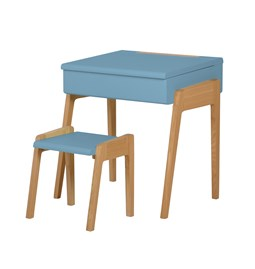 My Little Pupitre children desk + Stool 3/6 years - blue
