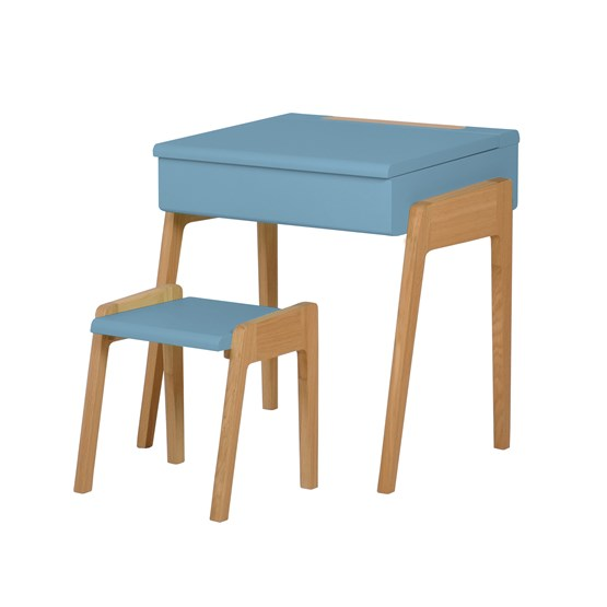 Bureau + Tabouret enfant 3/6 ans My Little Pupitre - bleu - Design : Jungle by Jungle