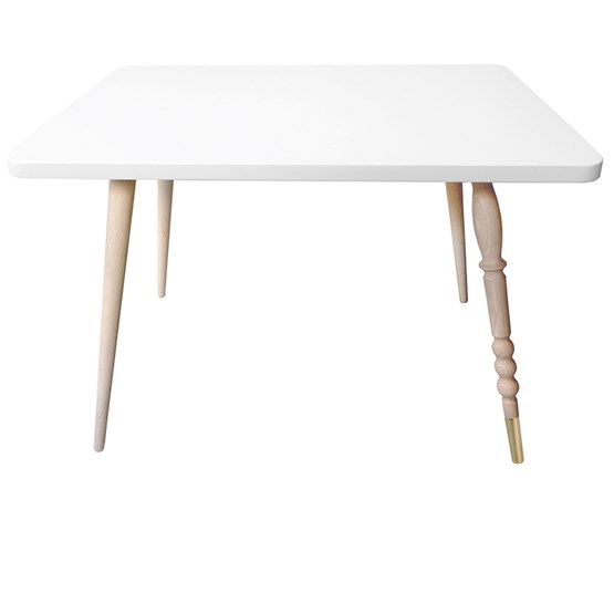 Table basse rectangle My Lovely Ballerine - blanc & hêtre - Design : Jungle by Jungle