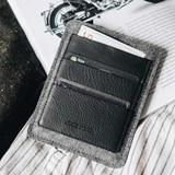 Porte passeport PORTE en cuir - noir 4
