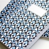 Carnet A5 relié couture - bleu 4