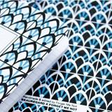 Carnet A5 relié couture - bleu 5