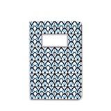 Carnet A5 relié couture - bleu 2