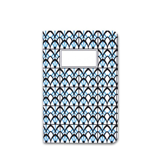 Carnet A5 relié couture - bleu - Design : Coco Brun x Beauregard Studio