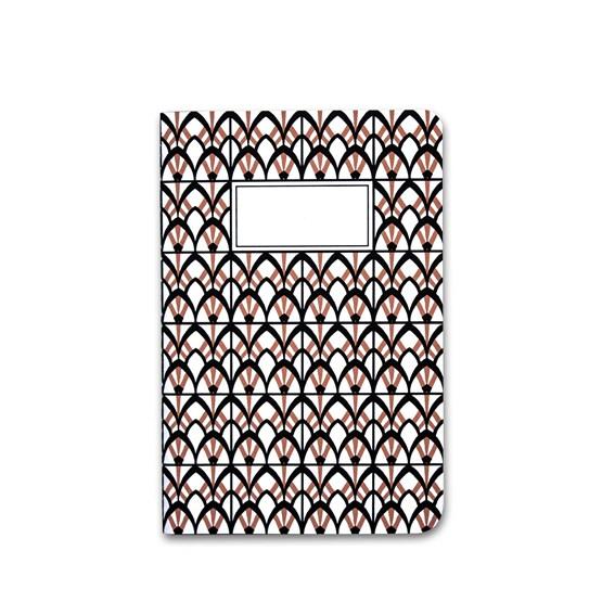 A5 notebook singer stitching - brown - Design : Coco Brun x Beauregard Studio