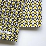 Carnet A5 relié couture - jaune 3