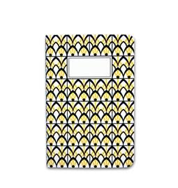 Carnet A5 relié couture - jaune