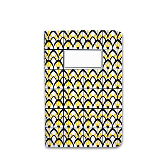 A5 notebook singer stitching - yellow - Design : Coco Brun x Beauregard Studio