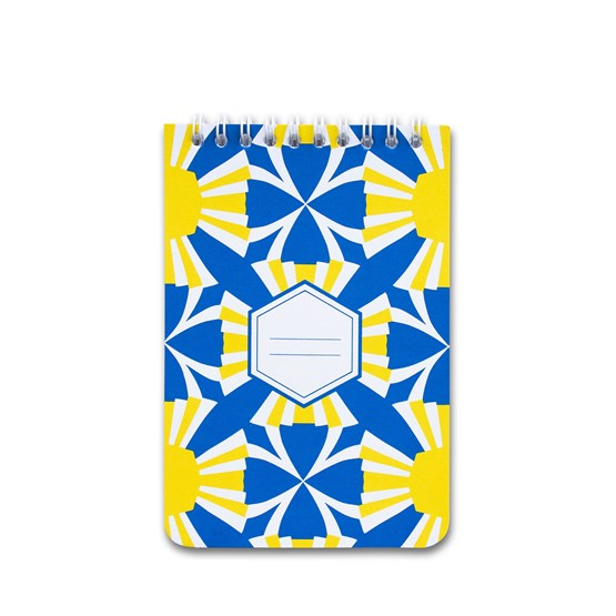 A5 spirale notebook - yellow - Design : Coco Brun x Beauregard Studio