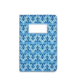 A5 notebook singer stitching - light blue