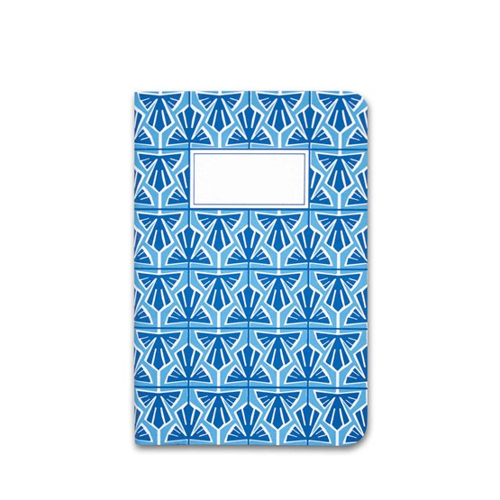 A5 notebook singer stitching - light blue  - Design : Coco Brun x Beauregard Studio