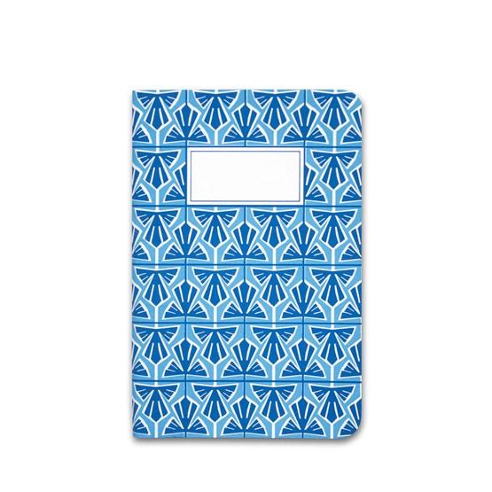 Carnet A5 relié couture - bleu clair - Design : Coco Brun x Beauregard Studio