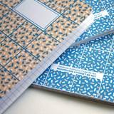 Carnet A5 relié couture - corail & bleu 4