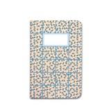 Carnet A5 relié couture - corail & bleu 2