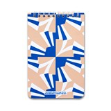 A5 spirale notebook - nude & blue 3
