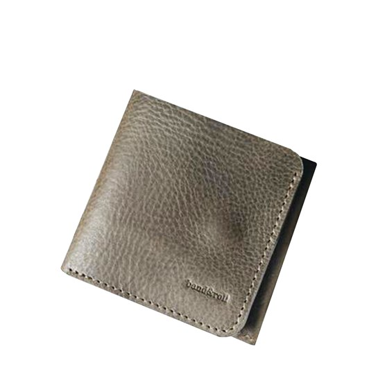 """1966"" Classic bifold leather wallet - olive green - Design : band&roll"