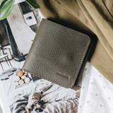 """1966"" Classic bifold leather wallet - olive green 4"