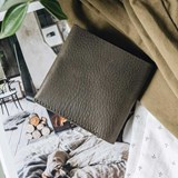 """1966"" Classic bifold leather wallet - olive green 3"