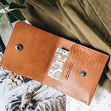 """1966"" Classic bifold leather wallet - tan 4"