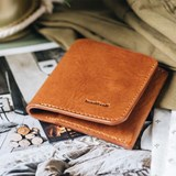"""1966"" Classic bifold leather wallet - tan 3"