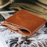 """1966"" Classic bifold leather wallet - tan 5"