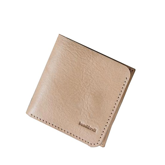 """""""1966"""" Classic bifold leather wallet - latte - Design : band&roll"""