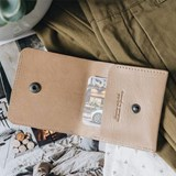 """""""1966"""" Classic bifold leather wallet - latte 7"""
