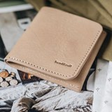 """""""1966"""" Classic bifold leather wallet - latte 6"""