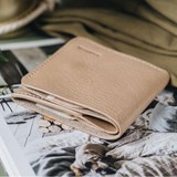 """""""1966"""" Classic bifold leather wallet - latte 5"""