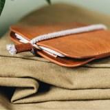 LESS minimalist card case - tan 4