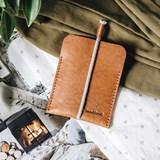 LESS minimalist card case - tan 3