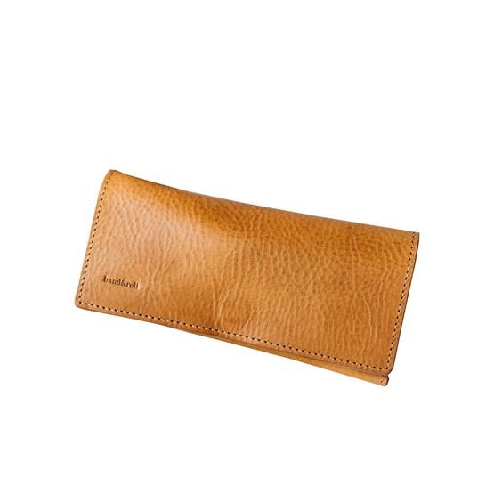 DUO leather sunglasses case - Design : Band&roll