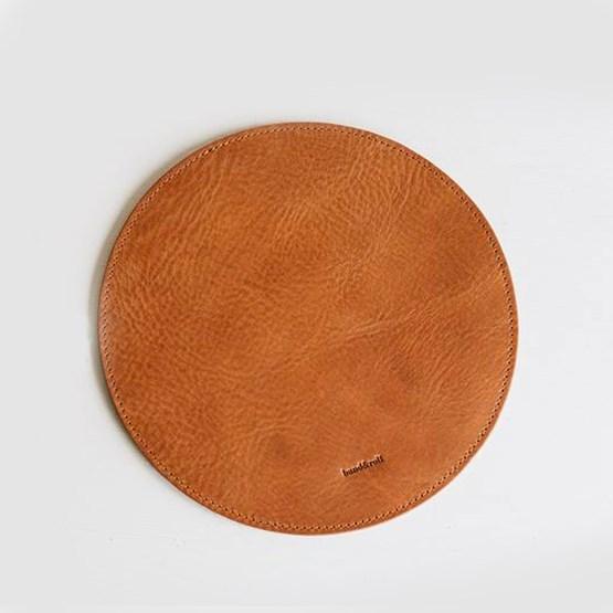 Tapis de souris HYP - cuir & gris clair - Design : Band&roll
