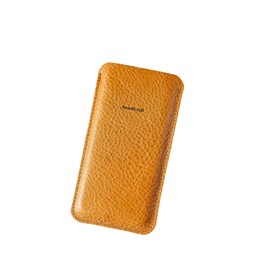 DANDY leather phone case - tan