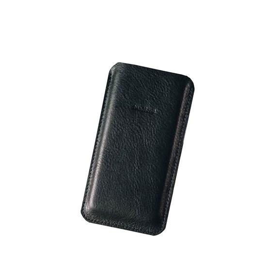 Etui pour téléphone en cuir DANDY - noir - Design : band&roll