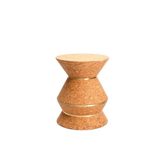 COLUM(N) 3.21 stool - brass - Design : Nova Obiecta