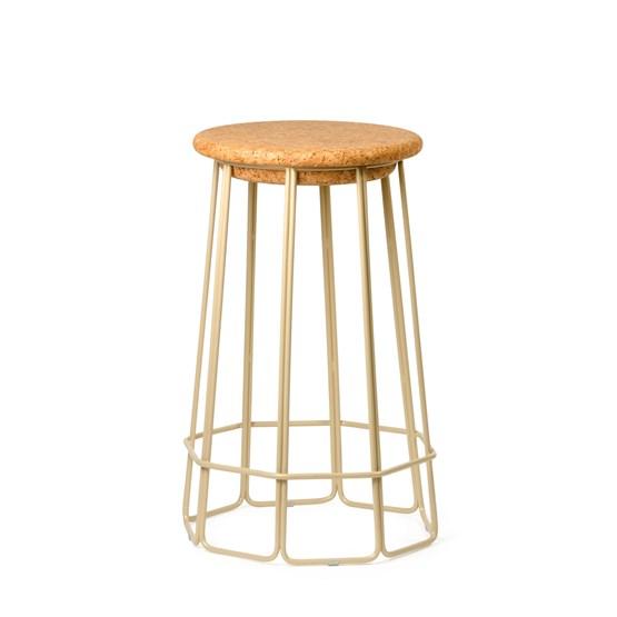 Tabouret de bar OCT(O) - beige - Design : Nova Obiecta