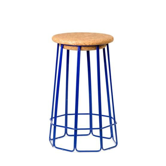 Tabouret de bar OCT(O) - bleu - Design : Nova Obiecta