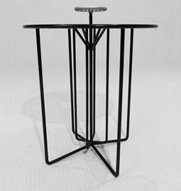Table guéridon S2 - version 1 alu gris et acier noir