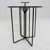 Table nomade S2 - version alu gris et acier noir 2