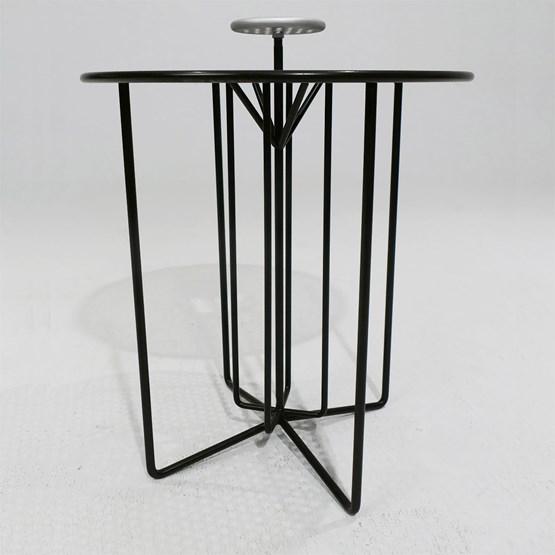 Table nomade S2 - version alu gris et acier noir - Design : AG L.O.B.