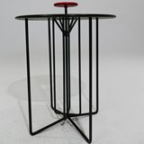 Table nomade S2 - version  alu rouge et noir