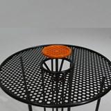 Side table S2 – Version 1 alu orange et acier noir 3