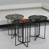 Side table S2 – Version 1 alu orange et acier noir 4